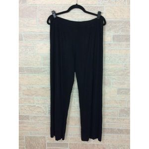 Misook Women's Pants Black Elastic Waist Knitted